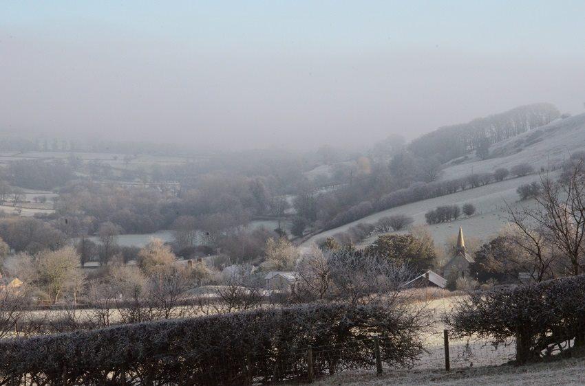 Discoed snow